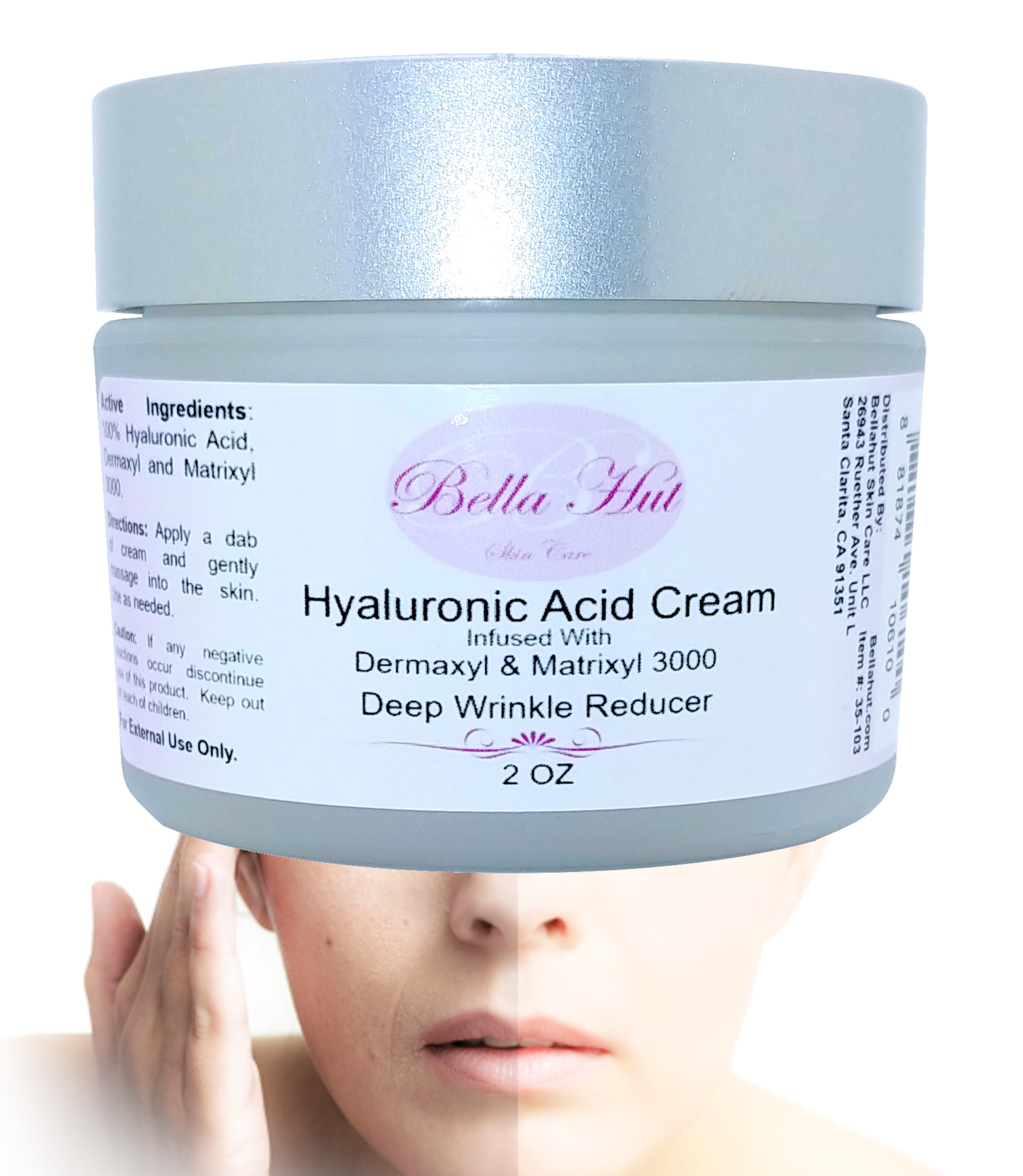 100% Hyaluronic Acid Cream with Dermaxyl And Matrixyl 3000