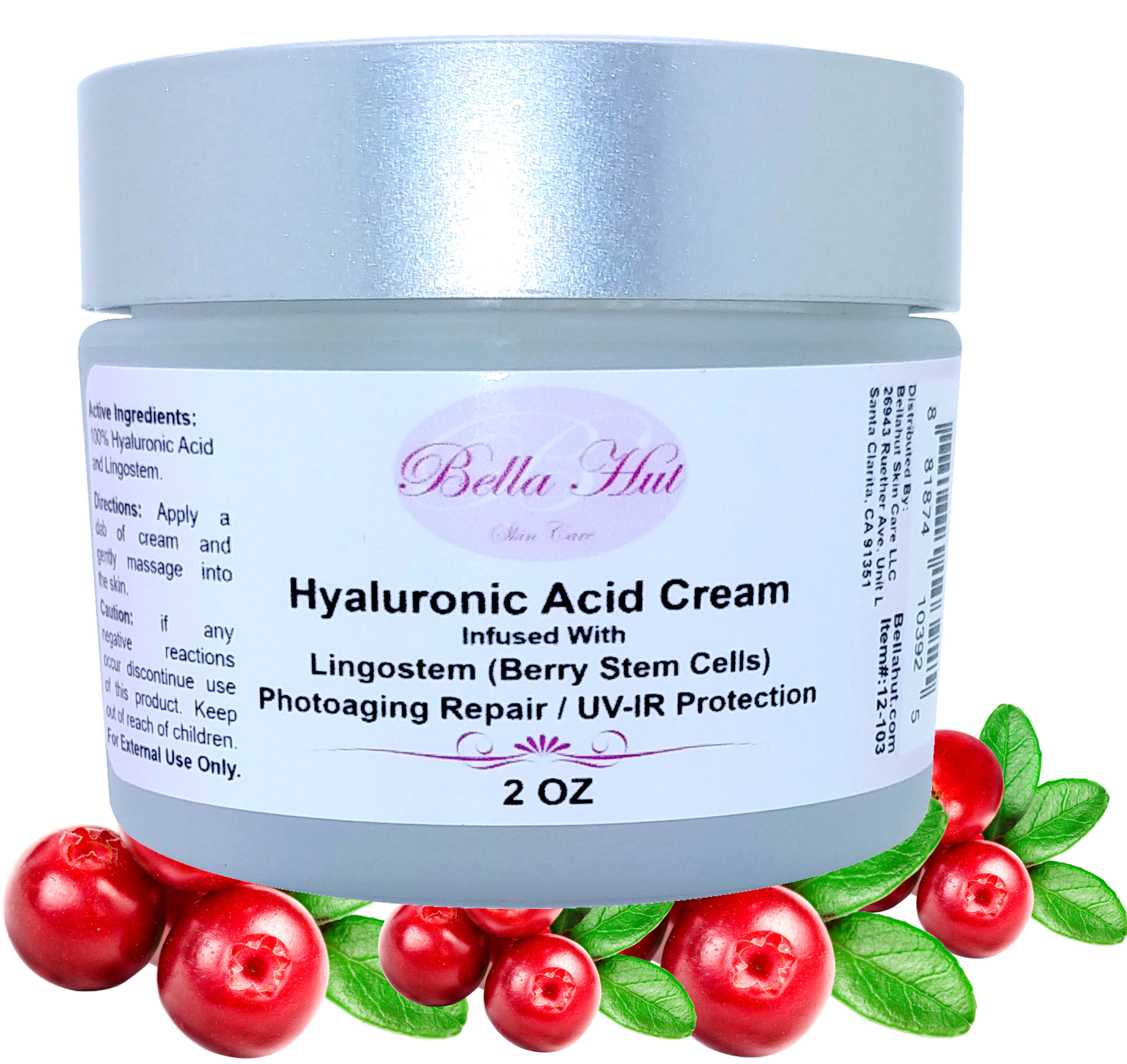 100% Hyaluronic Acid Cream WITH Lingostem Peptide