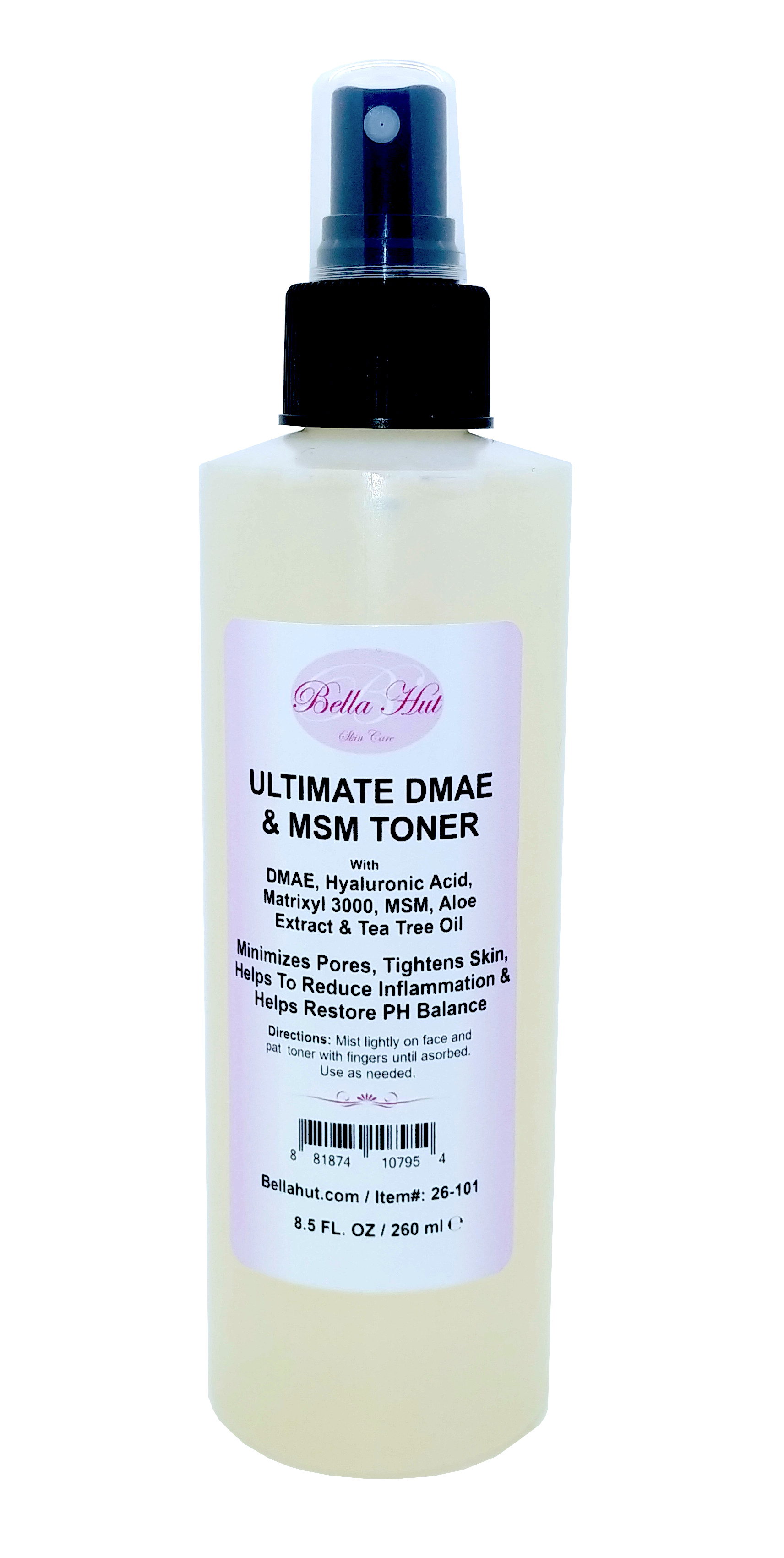 Ultimate DMAE Firming Toner with DMAE, Hyaluronic Acid, Matrixyl 3000, MSM, Aloe extract and Tea Tree essential oil