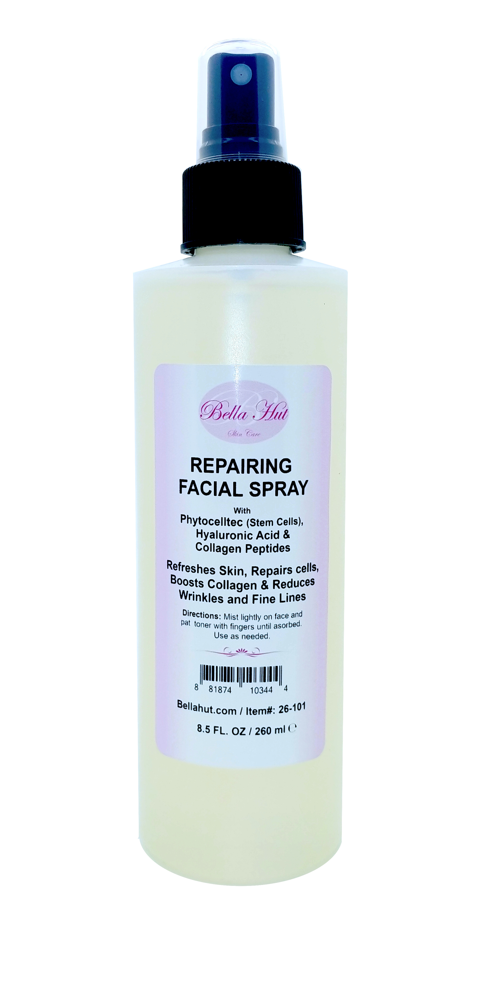 Repairing Facial Spray with Phytocelltec, Hyaluronic Acid And Tripeptide-29 Collagen Peptide helps to repair cells