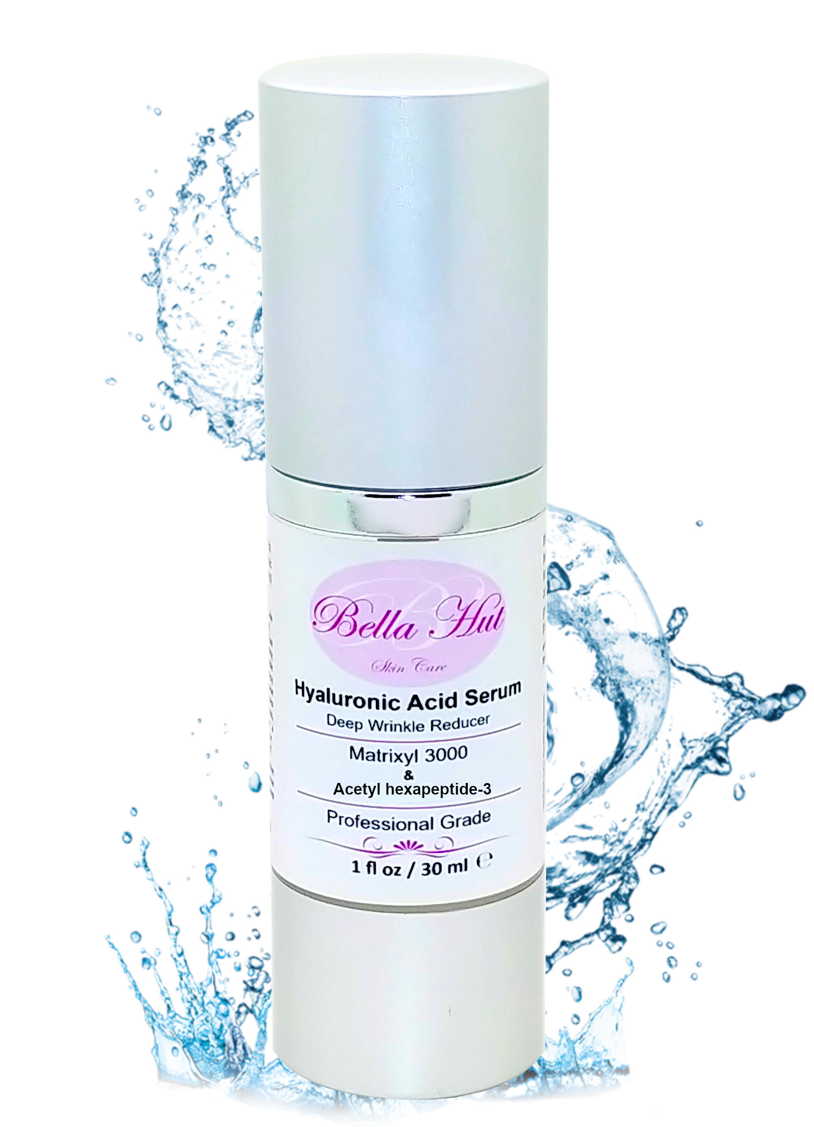 100% Hyaluronic Acid Serum with Matrixyl 3000 and Acetyl hexapeptide-3 Wrinkle Reduction