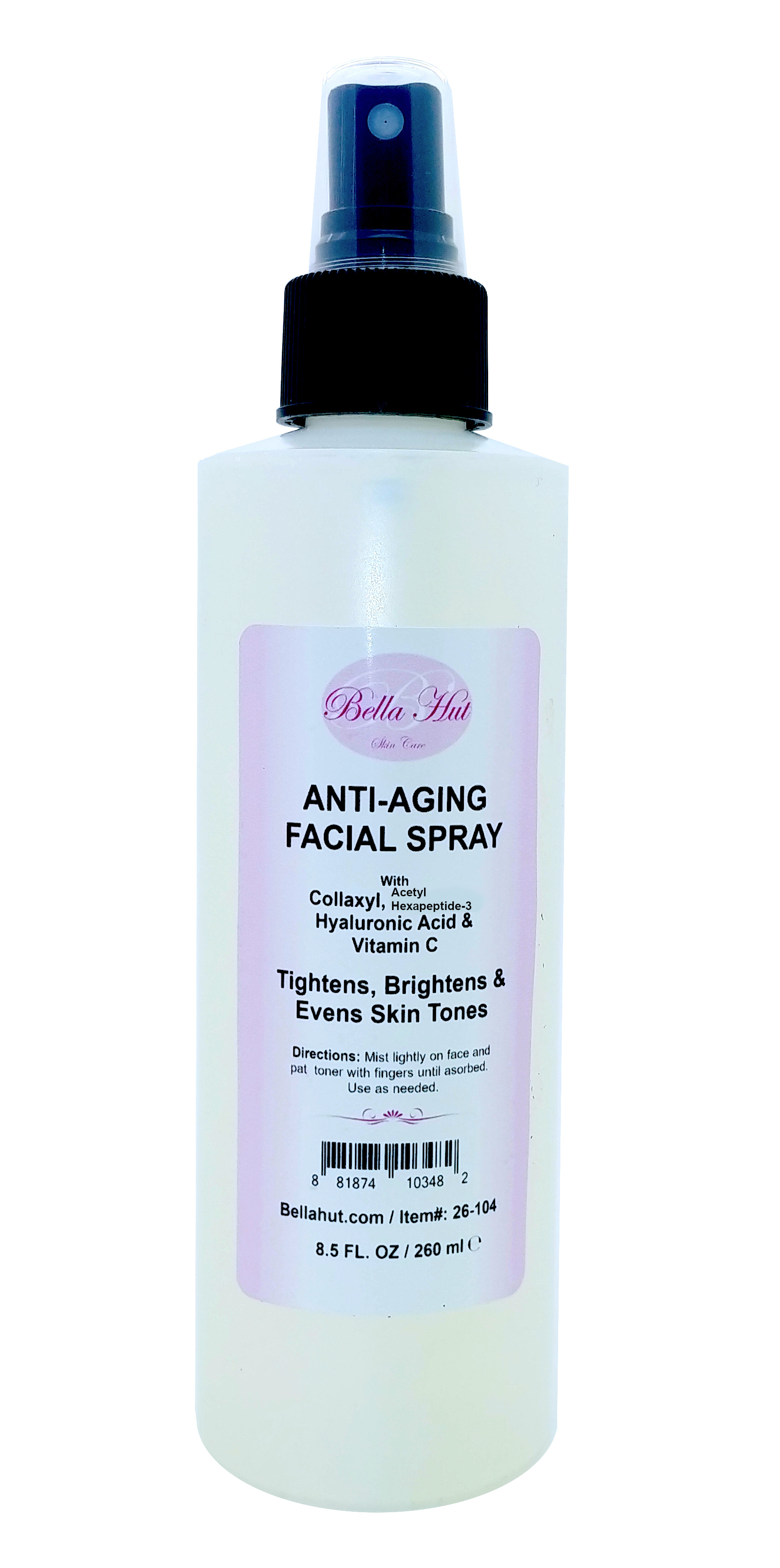 Anti Aging Facial Spray with Collaxyl Acetyl hexapeptide-3 Hyaluronic Acid and Vitamin C