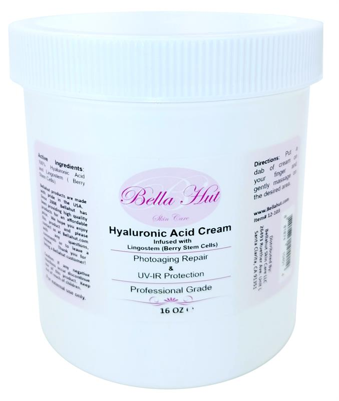 /100% Hyaluronic Acid Cream WITH Lingostem Peptide