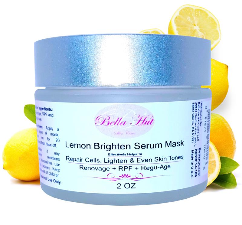 /Lemon Brighten Serum Mask with Renovage, Rpf And Regu-Age for cellular repair and skin lightening