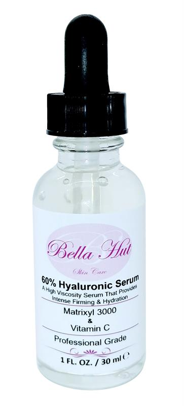 /60% Hyaluronic Acid Serum with Matrixyl 3000™ And Vitamin C to reduce wrinkles, fine lines and mositurize skin