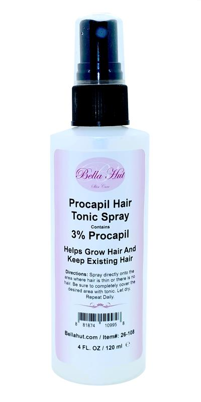 /A hair tonic containing procapil to help with the reduction of hair loss and to help regrow hair