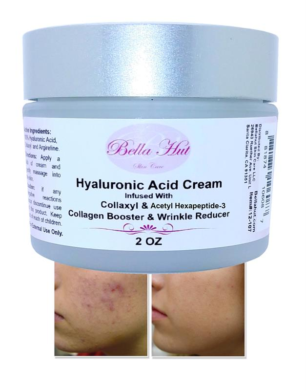 100% Hyaluronic Acid Cream with Collaxyl and Acetyl hexapeptide-3