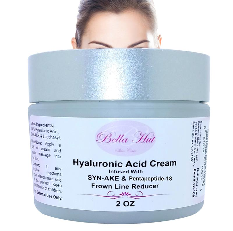 /100% Hyaluronic Acid Cream with Syn-Ake and Pentapeptide-18