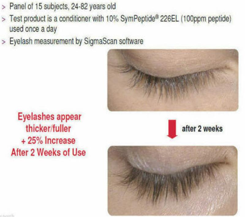 Eye Lash Growth with SymPeptide Xlash And PROCAPIL Eyelash growth and longer eyelashes