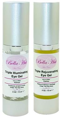 Dual Eye Gel Set with Haloxyl Eyeliss And Matrixyl 3000 Reduces puffiness, eye bags and dark circles