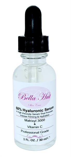 60% Hyaluronic Acid Serum with Matrixyl 3000™ And Vitamin C to reduce wrinkles, fine lines and mositurize skin